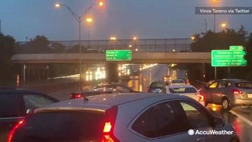Waist-deep waters halt traffic
