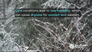 3 ways cold, dry weather can make wearing contact lenses uncomfortable