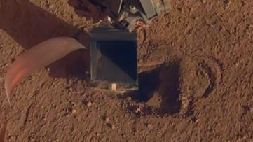 NASA's InSight Lander Finally Burrows 'Mole' Into Martian Surface
