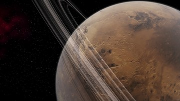 Martian Moon's Orbit Suggests the Planet Once Had Rings