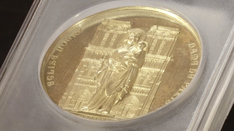 1864 Notre Dame Medal To Go Up For Auction To Help Reconstruct Cathedral