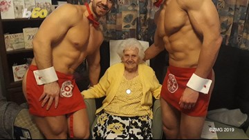 Great, Great Granny Gets Team of Beefcakes for Her 100th Birthday Bash
