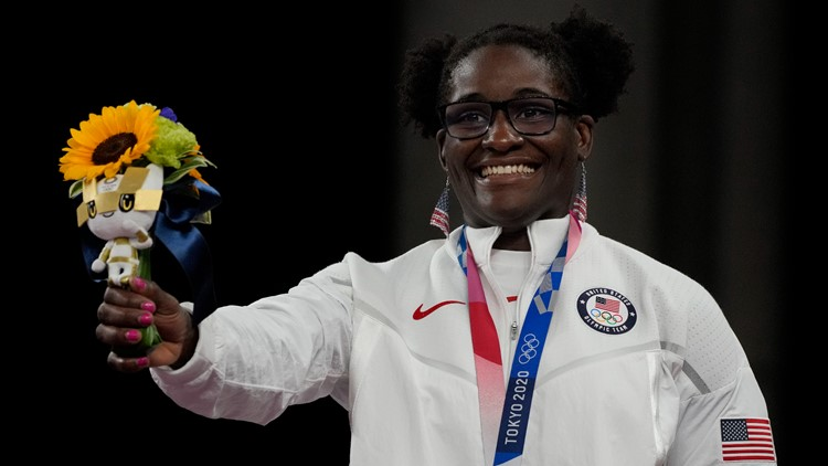 Mensah-Stock becomes 1st Black US woman to win Olympic gold in wrestling