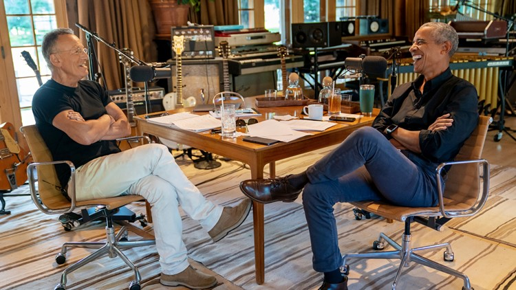Obama and Springsteen sit down together for new Spotify podcast series
