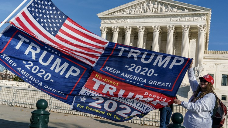 The Supreme Court has rejected some Trump election challenge cases