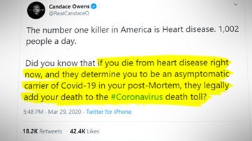 VERIFY: Conspiracy that COVID-19 deaths are being inflated doesn't add up
