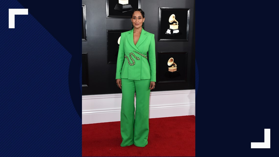 6edb7c0d326 Tracee Ellis Ross arrives at the 61st annual Grammy Awards at the Staples  Center on Sunday, Feb. 10, 2019, in Los Angeles.