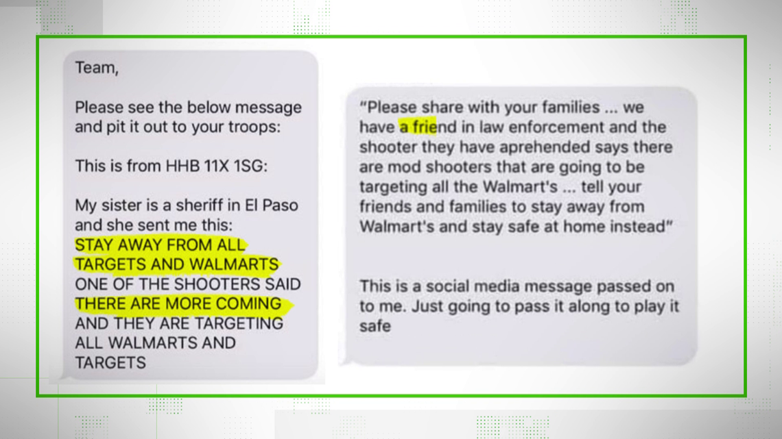 VERIFY: Text message about more shooters at Walmarts spreads hoax nationwide