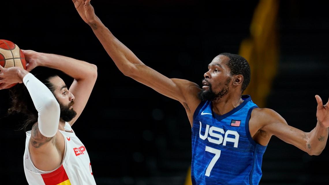 US men's basketball reaches Olympic semis, tops Spain 95-81