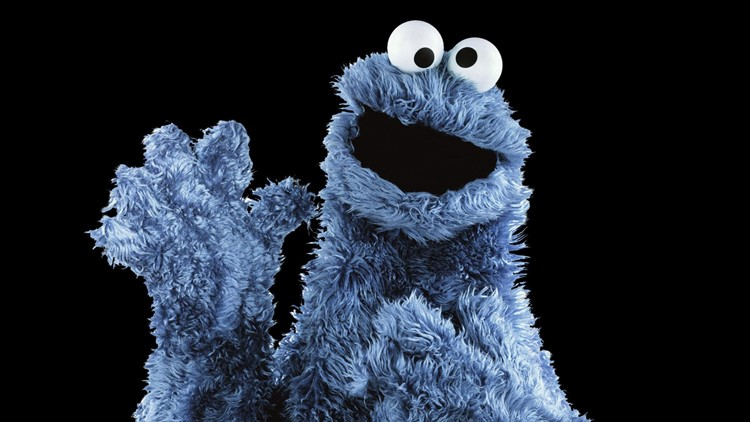 Rock formation resembles Cookie Monster from 'Sesame Street'