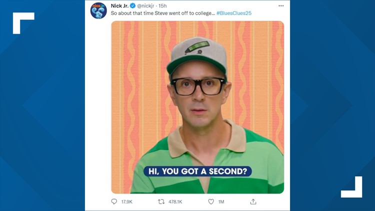 Former 'Blue's Clues' host Steve shares message with grown-up fans