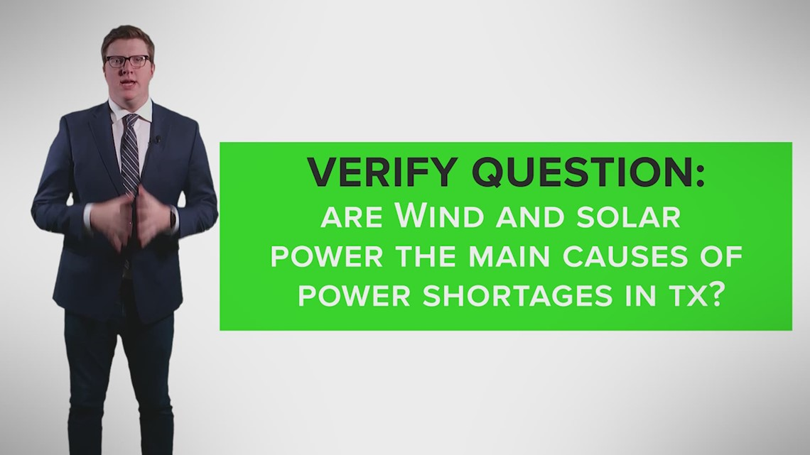 VERIFY: Wind and solar power are not to blame for Texas's power deficit