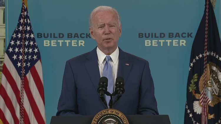 'We risk losing our edge as a nation if we don't move'   Biden talks infrastructure progress