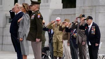 World War II veterans join President Trump at V-E Day ceremony