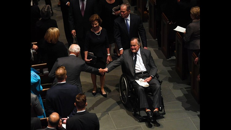 Former President George HW Bush Leaves Hospital