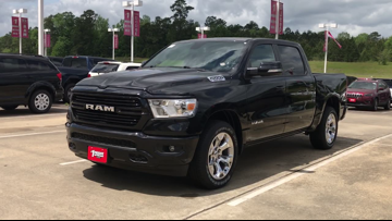 Take a 2019 Ram 1500 Lonestar Edition crew cab pickup from Moore Auto in Silsbee on a 12News Test Drive