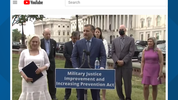 U.S. senators urge Congress to pass bipartisan military reform bill tackling sex assault, serious crimes
