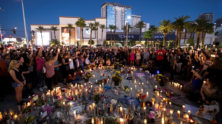 Vegas shooting memorial Oct 9 2017-432346027