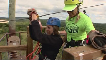 Zipline course takes riders through the Texas Hill Country at 30 MPH