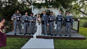 San Antonio couple says 'I do' with Spurs-themed wedding