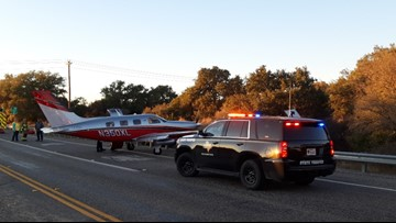 Small plane lands on highway outside San Antonio