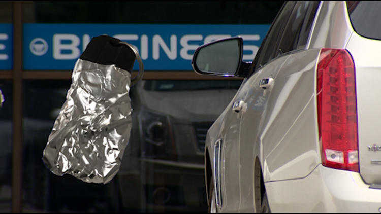 Why are some drivers wrapping fobs in foil?