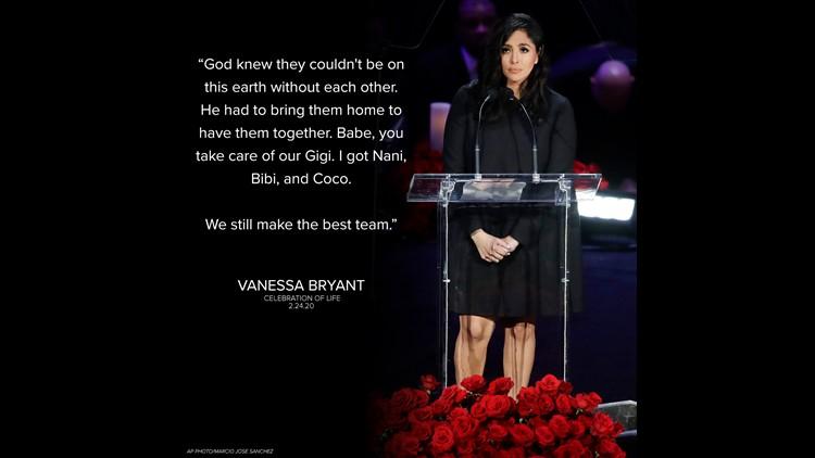 Vanessa remembers Kobe, family at memorial