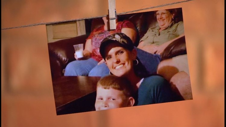 Danielle Sleeper with her older son