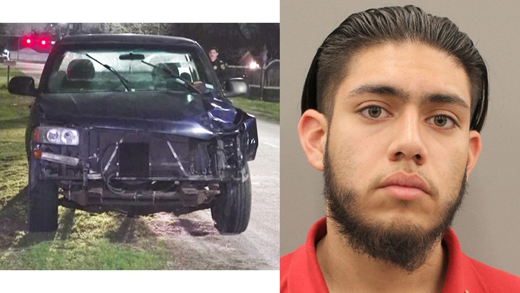 Sergio Noe Palacios, 20, is charged with failure to stop and render aid