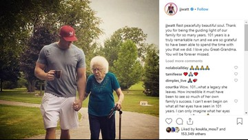 J.J. Watt: Great-grandmother was 'guiding light' of family