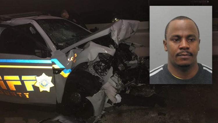 Houston deputies injured, prisoner killed during wrong-way crash involving suspected drunken driver