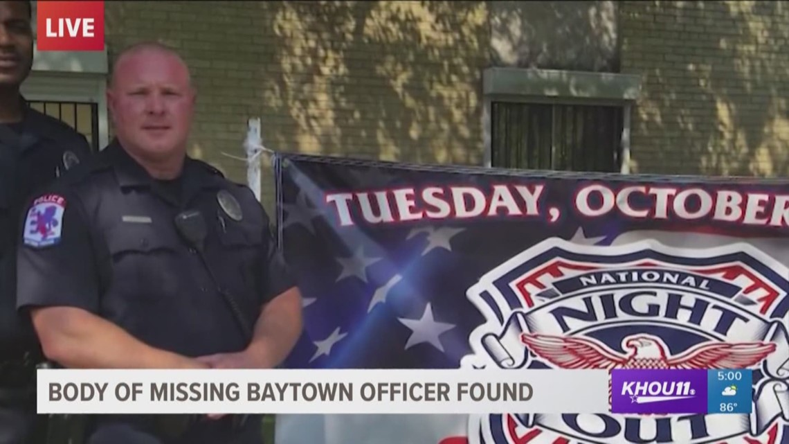 Body of missing Baytown officer found