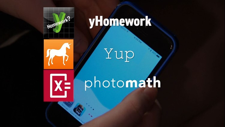 Apps such as yHomework, Yup and Photomath make it easier for students to solve problems.