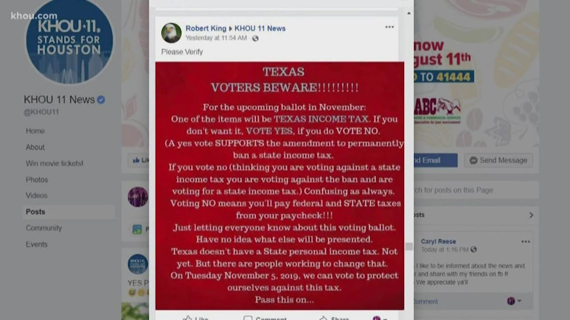 VERIFY: Will Texans be voting on a state income tax in November?