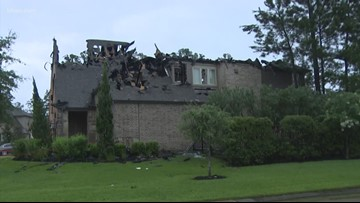 Lightning strikes spark house fires in north Harris County, official say