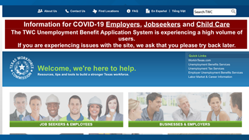 Texas Workforce Commission launches new process for handling unemployment claims