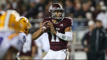 Aggies win thriller over LSU, 74-72, after 7 OTs