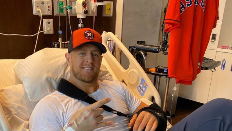 'Blame it on the pain meds'    J.J. Watt is tweeting about the Astros from his hospital bed