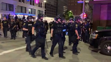 George Floyd rally: 137 arrests, 8 officers injured during Houston protest, HPD says