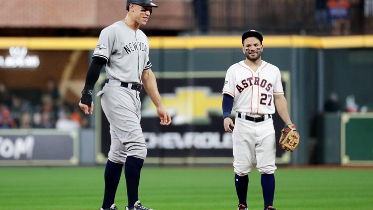 ALCS Aaron Judge, Jose Altuve