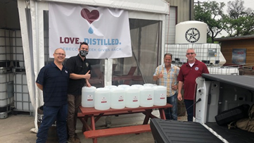 Texas alcohol distilleries making hand sanitizer for first responders and healthcare workers