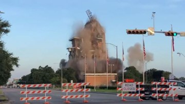 Watch: First Pasadena State Bank building imploded