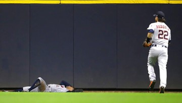 Initial tests on George Springer 'encouraging' after scary collision with wall