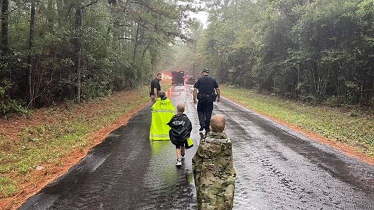 3 children found safe after a night in the dark and the rain in Sam Houston National Forest, MCSO says