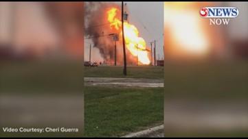 Massive flames as gas line ruptures near Citgo plant in Corpus Christi
