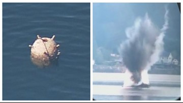 Mine found floating in Puget Sound was part of naval exercise years ago