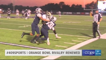West Orange-Stark High School takes the Orange Bowl from Little Cypress-Mauriceville 36 - 14