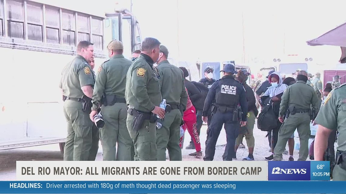 Border Update: All migrants are gone from Del Rio border camp, mayor confirms