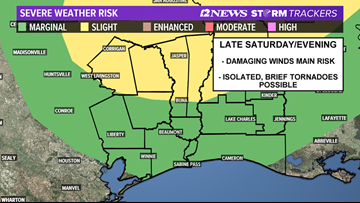 Risk of severe storms Saturday across the Golden Triangle has dropped from 'slight' to 'marginal'