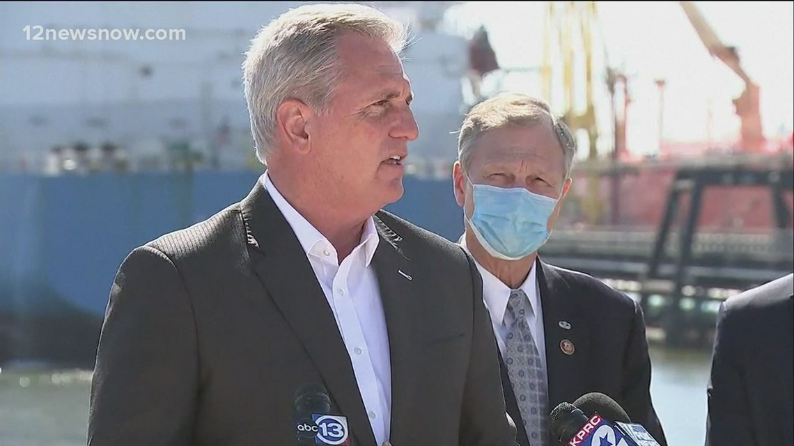 House GOP members visit Houston ship channel, criticizing the president's 'job killing energy policies'